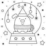 fox snow globe coloring pages - photo#6