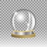 Snow globe. Empty snow globe on transparent background, vector Stock Photos