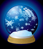 Snow globe flake Stock Photos