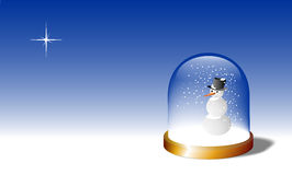 Snow globe of glass Stock Image