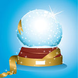 Snow globe glittering Royalty Free Stock Images