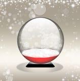 Snow globe in golden background Stock Photo
