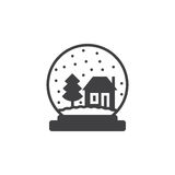 Snow globe icon vector, filled flat sign, solid pictogram isolat Stock Images
