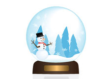 Snow Globe Illstration Stock Image