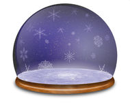 Snow globe Illustration. Stock Photography