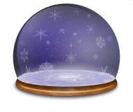 Snow globe Illustration. stock photography
