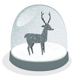 Snow globe vector Royalty Free Stock Images