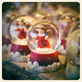 Snow globe instagram Royalty Free Stock Image
