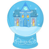 Snow Globe with a little house Stock Photography
