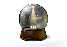 Snow Globe Nativity Scene White Stock Images