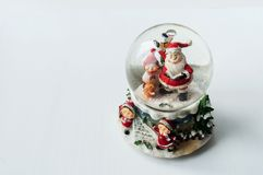 Snow globe with Santa Claus inside Royalty Free Stock Photos