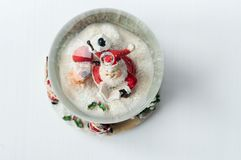 Snow globe with Santa Claus inside Stock Photography