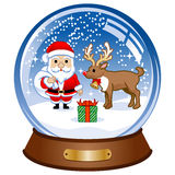 Snow globe, Santa Claus Stock Photo