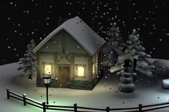 Snow globe (scene) Stock Photo