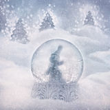 Snow globe with snowman stock images