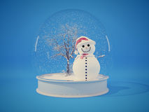 Snow globe with snowman Royalty Free Stock Image