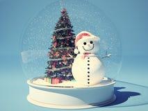 Snow globe with snowman Stock Photo