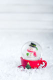 Snow globe with snowman Royalty Free Stock Photography
