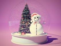Snow globe with snowman Royalty Free Stock Photo