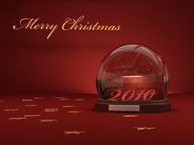 Snow Globe and stars Royalty Free Stock Photography