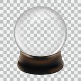 Snow globe template. Empty snow globe template. Vector design illustration Royalty Free Stock Photos