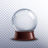 Snow Globe Transparent Royalty Free Stock Images