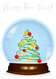 Snow globe with tree Stock Image