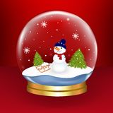 Snow Globe. Vector Royalty Free Stock Photography