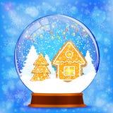 Snow globe vector background stock illustration