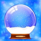Snow globe vector on blue Stock Photography