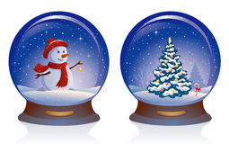 Snow globes royalty free illustration