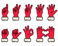 Free Snow Glove Counting Gesture Vector Illustration Set Royalty Free Stock Photos - 199158818