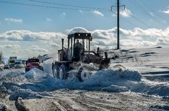 Snow grader Stock Photos