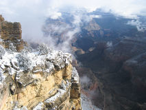 Snow at Grand Canyon Royalty Free Stock Image