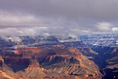 Snow in the Grand Canyon Royalty Free Stock Photo