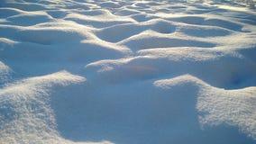 Snow. A grateful snowdrift, Dubna, Russia Stock Photography