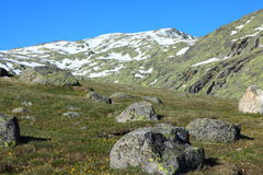 Snow gredos mountains Stock Photo