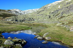 Snow gredos mountains Royalty Free Stock Images