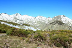Snow gredos mountains Royalty Free Stock Image