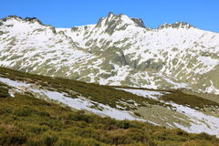 Snow gredos mountains Stock Image