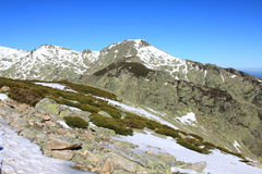 Snow gredos mountains Royalty Free Stock Photos