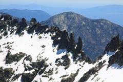 Snow gredos mountains in avila Royalty Free Stock Photography