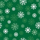 Snow green pattern Royalty Free Stock Photography