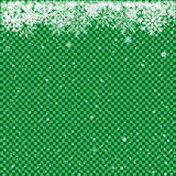 Snow on green transparent background Royalty Free Stock Photos