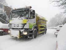 Snow gritter Stock Photos