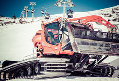Snow groomer Royalty Free Stock Photos
