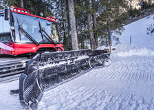 Snow groomer machine, front view Royalty Free Stock Photo