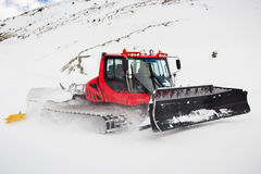 Snow Groomer on a Piste Stock Photography