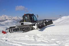 Snow groomer Stock Image