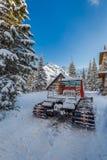Snow groomer in Tatra Mountains in Poland Stock Photo